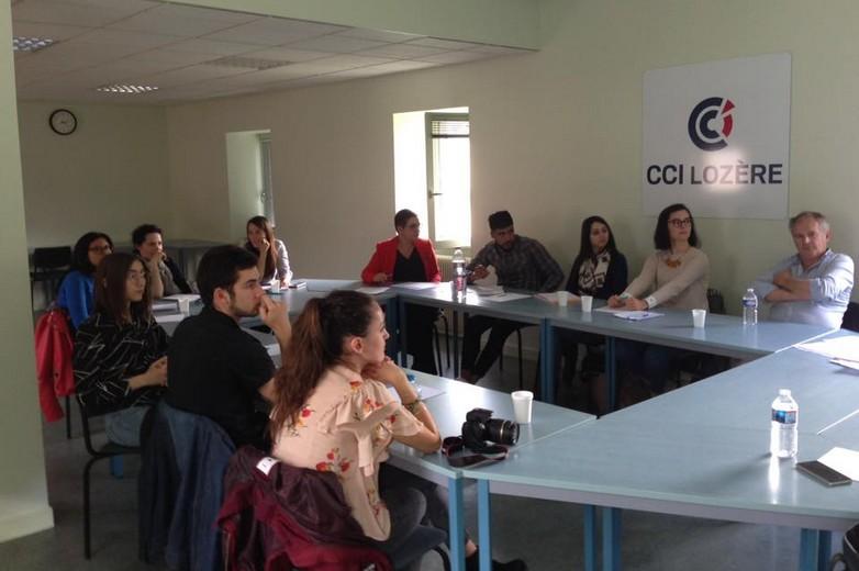 Atelier de réflexion organisé entre étudiants et chefs d'entreprise le 25 mai 2018 à la CCI de Lozère