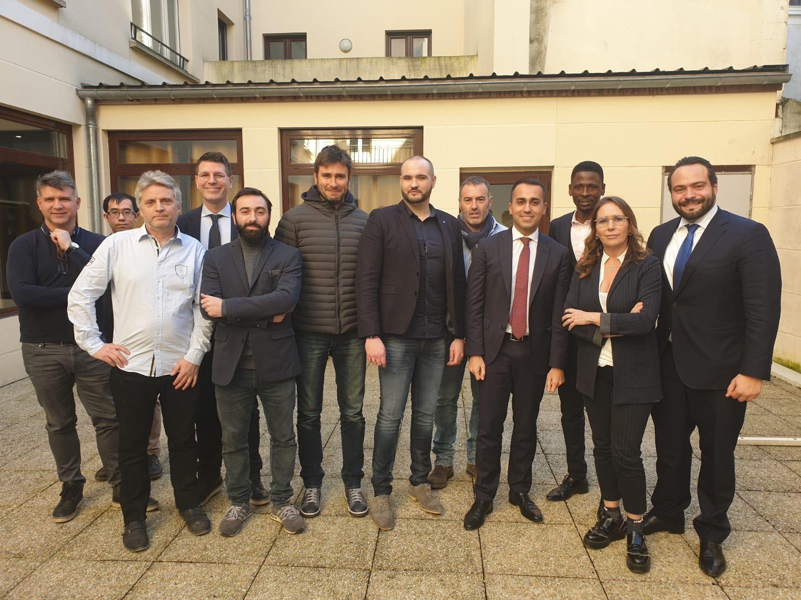 Luigi Di Maio a rencontré des Gilets jaunes en France le 5 février - Crédits : Luigi Di Maio / Twitter