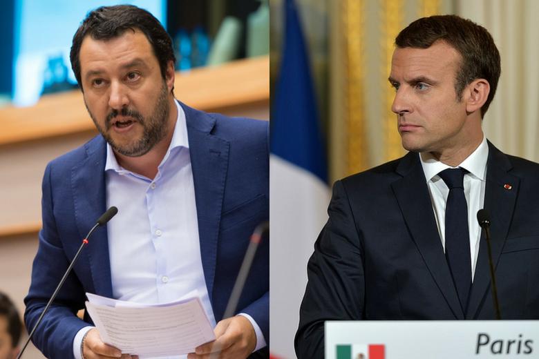 Matteo Salvini et Emmanuel Macron