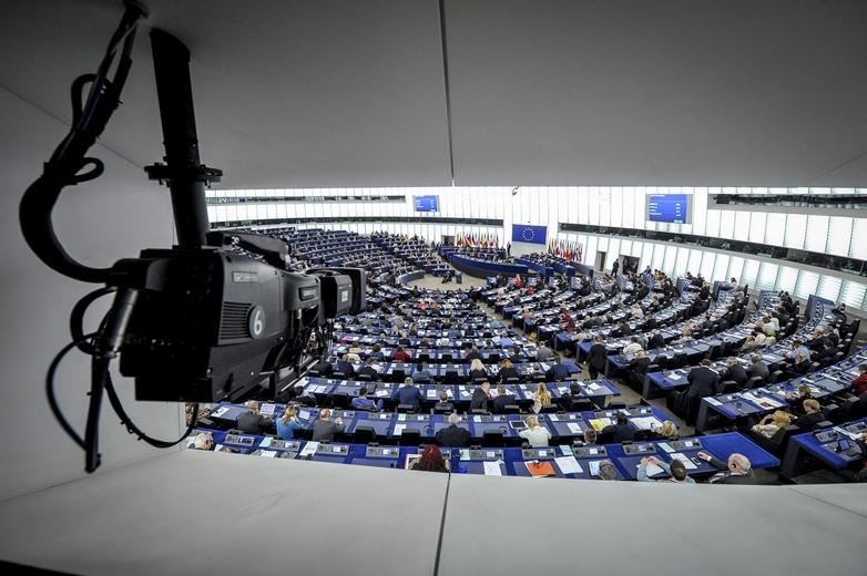 Le Parlement européen lors du discours sur l'état de l'Union, le 13 septembre 2017