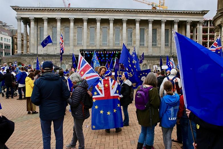 Ce soir, des rassemblements de soutiens et d'opposants au Brexit (comme cette manifestation anti-Brexit, le 30 septembre 2018 à Birmingham) se tiendront dans tout le Royaume-Uni, pour marquer la sortie du pays de l'Union européenne. - Crédits : ilovetheeu / Wikimedia Commons CC BY-SA 4.0