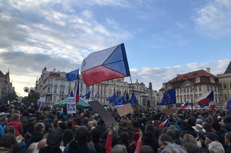 Ce n'est pas la première fois que la population manifeste à Prague contre la corruption, comme ici, lors d'une marche pour l'indépendance de la justice, le 6 mai 2019 - Crédits : Martin2035 / Wikimedia Commons CC BY 4.0