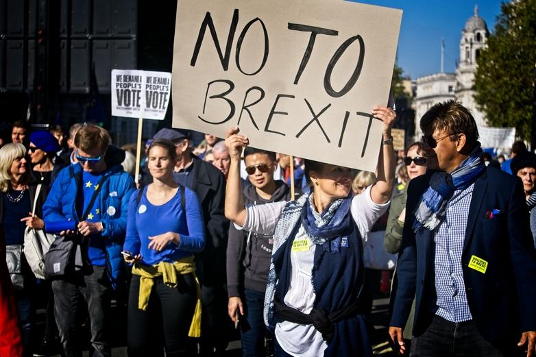 Marche à Londres pour un nouveau référendum le 20 octobre 2018 - Crédits : Garry Knight / Flickr