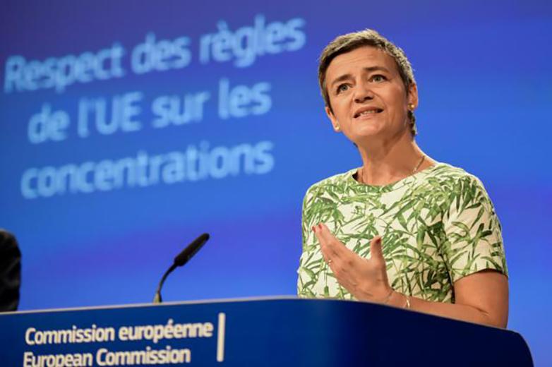 Vice-présidente exécutive de la Commission européenne pour l'Economie numérique à partir de 2019, la Danoise Margrethe Vestager est également commissaire à la Concurrence depuis 2014 et dirige ainsi l'action de l'UE en matière de concentrations - Crédits : Jennifer Jacquemart / Commission européenne
