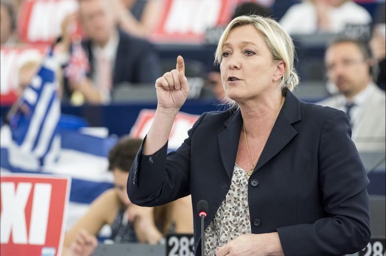 Marine Le Pen au Parlement européen en 2015