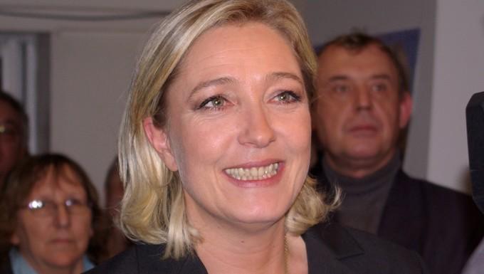 Marine Le Pen, présidente du Front national et tête de liste dans le Nord-ouest