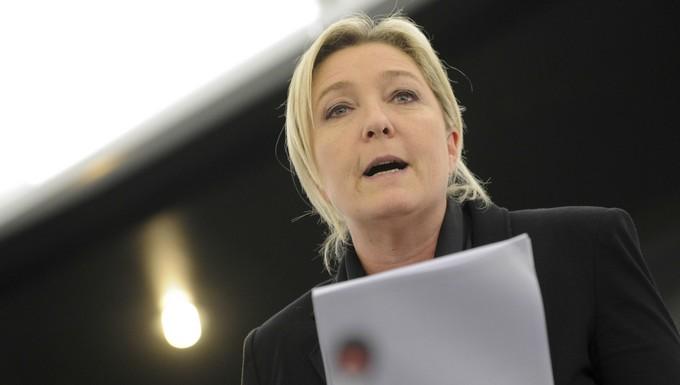 Marine Le Pen au Parlement européen le 15 janvier 2014