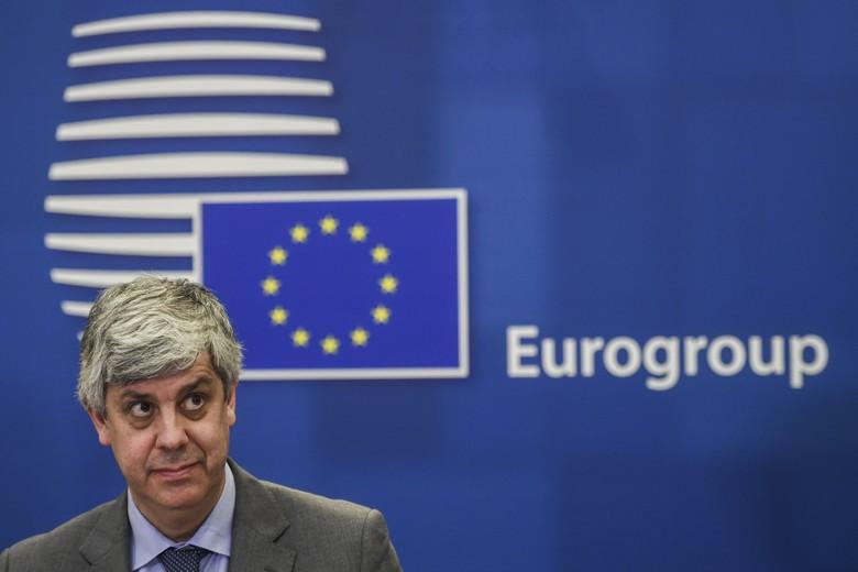 Le président de l'Eurogroupe Màrio Centeno, au cours de la réunion des ministres de l'Economie et des Finances européens, le jeudi 9 avril . Crédits : Union européenne