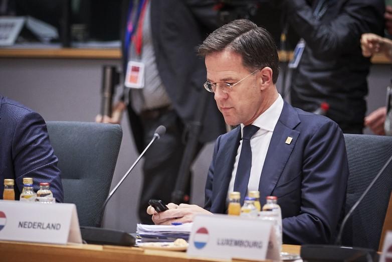 La stratégie d'immunité collective, défendue entre autres par le chef de gouvernement néerlandais Mark Rutte, fait l'objet de nombreuses critiques au niveau européen - Crédits : Conseil de l'UE - 2020