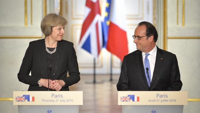 Theresa May et François Hollande, en juillet 2016