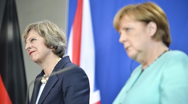 Theresa May et Angela Merkel, en juillet 2016