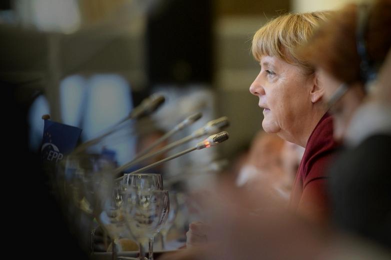 Angela Merkel en 2015, au congrès du Parti populaire européen - Crédits : European People's Party / CC BY 2.0