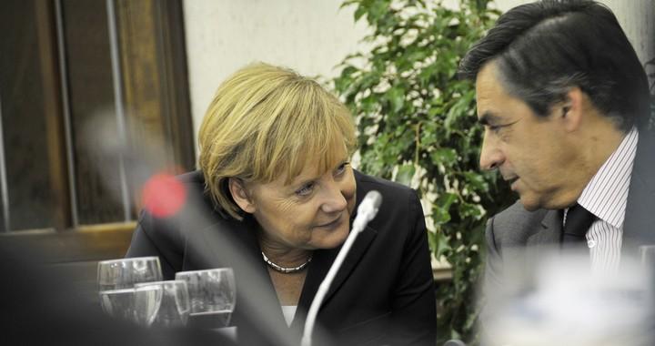 Angela Merkel et François Fillon, en 2010