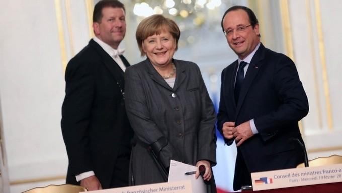 François Hollande Angela Merkel Conseil des ministres franco-allemand 19 février 2014