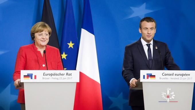Angela Merkel et Emmanuel Macron, le 23 juin 2017 à Bruxelles