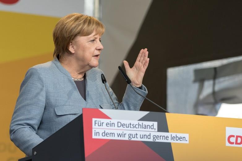 Angela Merkel lors de sa campagne