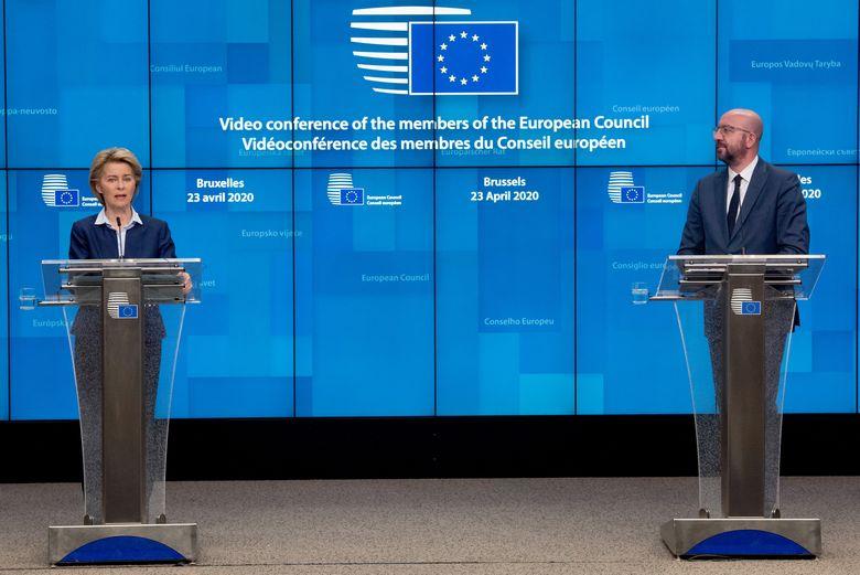 La présidente de la Commission Ursula von der Leyen et le président du Conseil européen Charles Michel comptent parmi les principaux protagonistes de la réponse de l'Union face à la crise - Crédits : Union européenne / Etienne Ansotte