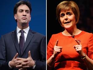 Ed Miliband et Nicola Sturgeon