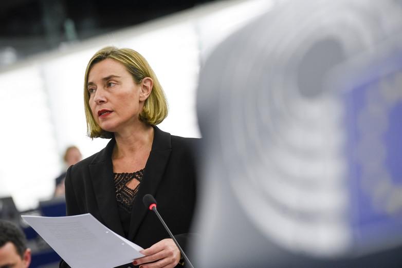 Federica Mogherini au Parlement européen le 12 décembre 2017