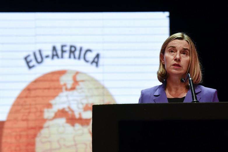 Federica Mogherini le 27 novembre 2017 à Abidjan