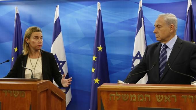 Federica Mogherini et Benjamin Netanyahu