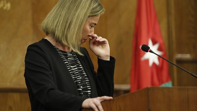 Federica Mogherini, émue par les attentats terroristes en Belgique
