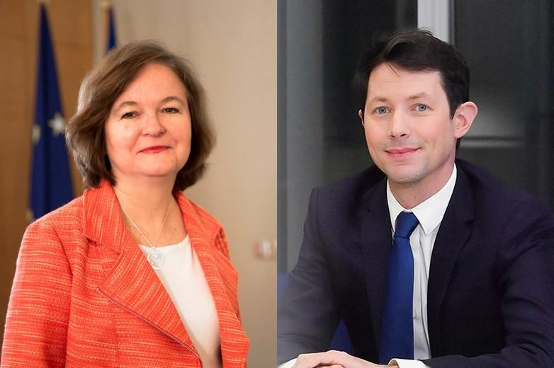 Nathalie Loiseau et François-Xavier Bellamy - Crédits : comptes facebook officiels