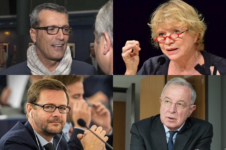 De gauche à droite et de haut en bas : Edouard Martin, Eva Joly, Jérôme Lavrilleux, Alain Lamassoure