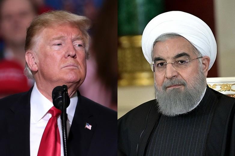 De gauche à droite : Donald Trump et Hassan Rohani - Crédits : Flickr / Wikimedia Commons