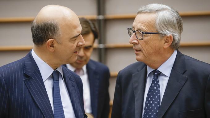 Pierre Moscovici et Jean-Claude Juncker