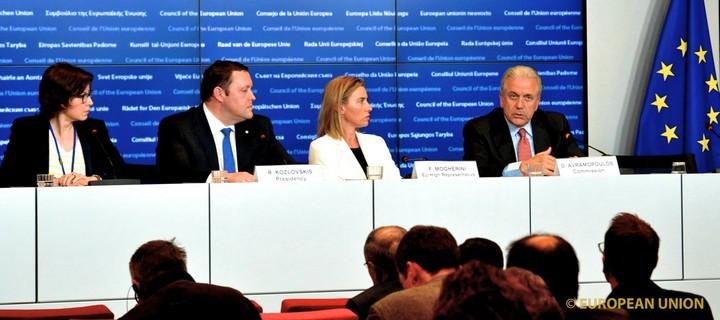 Conseil conjoint Affaires étrangères / Intérieur, le 20 avril 2015 - (c) Union européenne