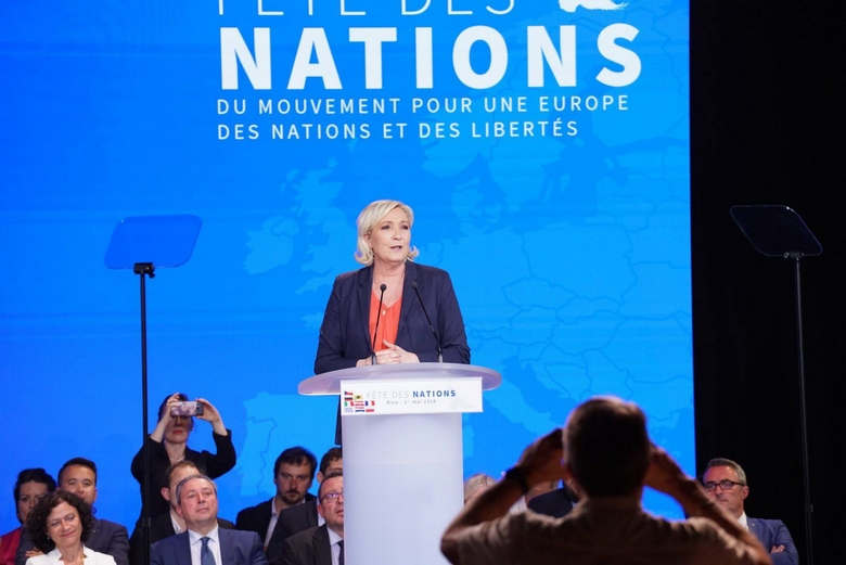 Marine Le Pen à Nice