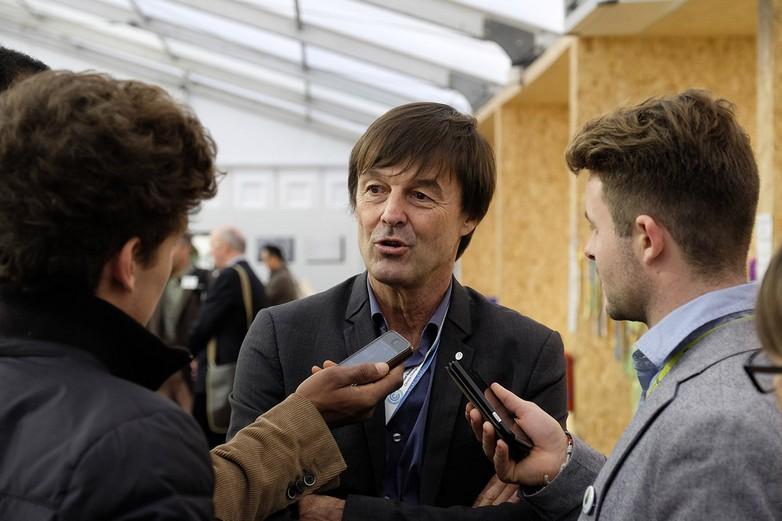 Nicolas Hulot lors de la COP 21 en 2015