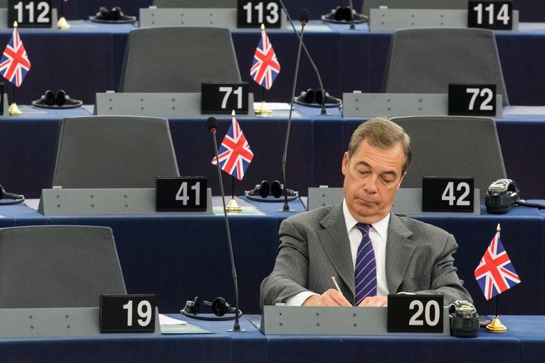 Le leader du Brexit Party et député européen Nigel Farage ne sera pas candidat aux élections générales britanniques du 12 décembre - Crédits : Mauro Bottaro / Commission européenne