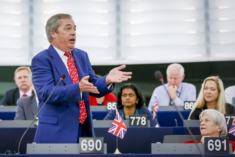 Le Brexiter Nigel Farage au Parlement européen - Crédits : Mathieu Cugnot / Parlement européen