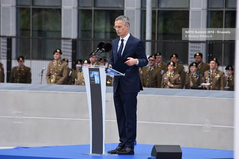 Jens Stoltenberg, secrétaire général de l'OTAN, le 11 juillet 2018