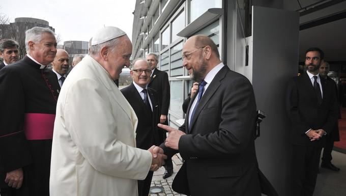 Le pape François et Martin Schulz
