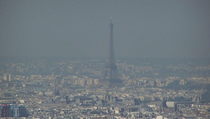 Paris lors d'un pic de pollution