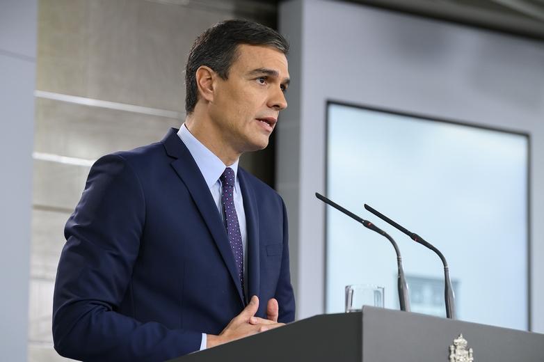 Le chef des socialistes Pedro Sánchez devra négocier avec au moins quatre partis pour former un gouvernement - Crédits :  La Moncloa - Gobierno de España / Flickr CC BY-NC-ND 2.0