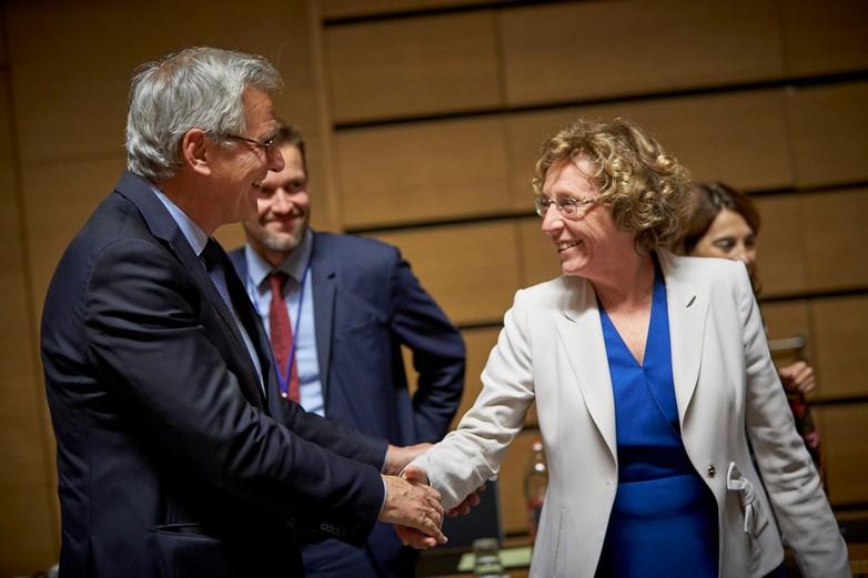 La ministre française du Travail Muriel Pénicaud et son homologue belge Kris Peeters