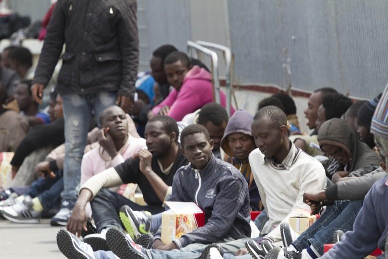 Réfugiés à Catania, Italie, en 2015