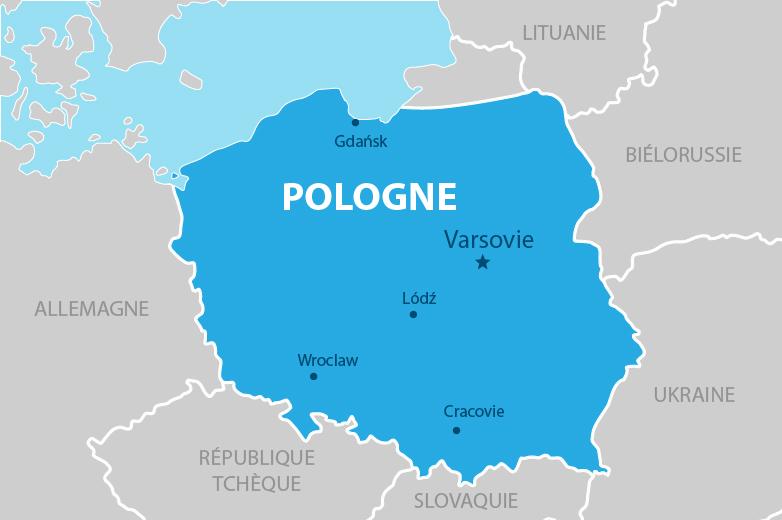carte de pologne villes