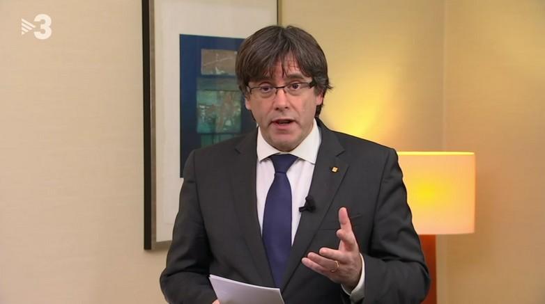 Déclaration de Carles Puigdemont sur TV3 le 2 novembre
