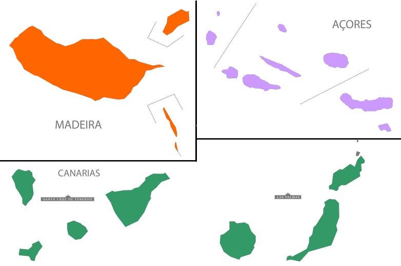 Açores, Canaries et Madère