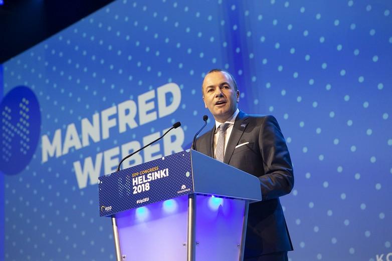 Manfred Weber, à l'occasion du congrès du Parti populaire européen (PPE) à Helsinki, jeudi 8 novembre