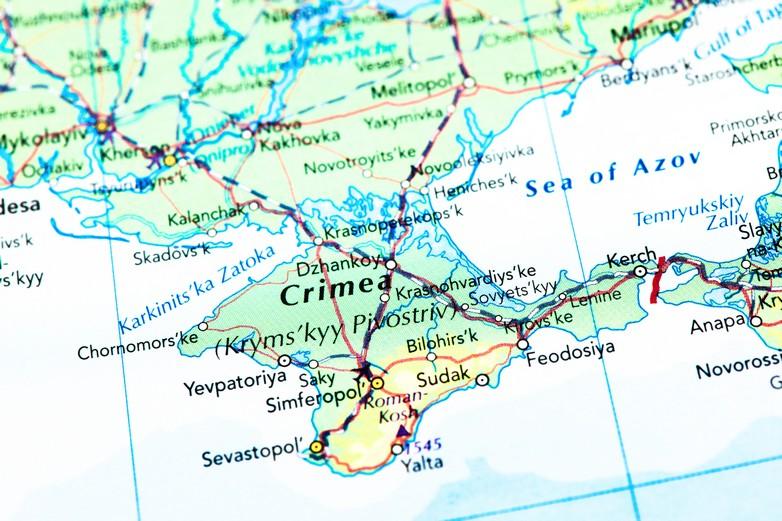 Le détroit de Kertch, entre la mer Noire et la mer d'Azov