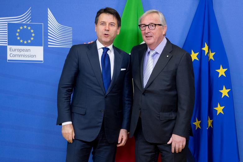 Jean-Claude Juncker a reçu Giuseppe Conte à Bruxelles le 12 décembre