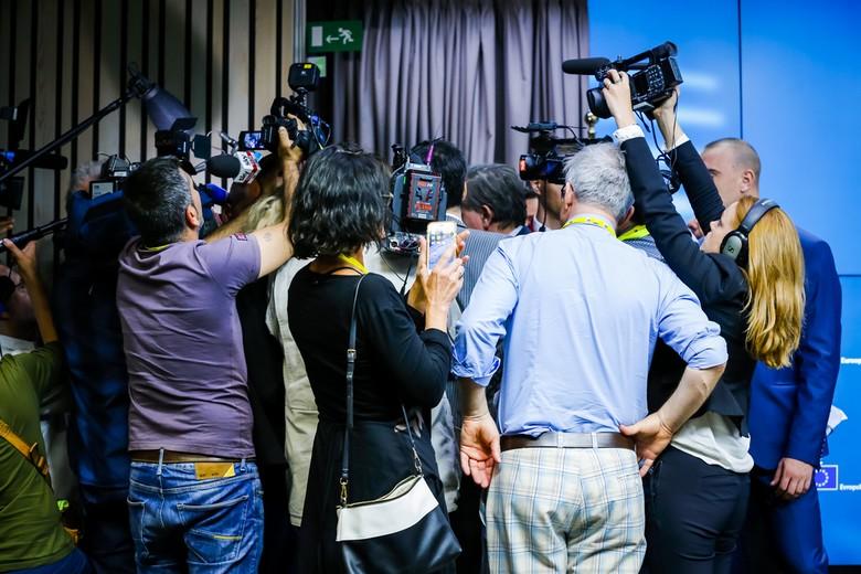 Conférence de presse au Conseil européen, juin 2018