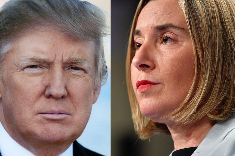 Donald Trump et Federica Mogherini