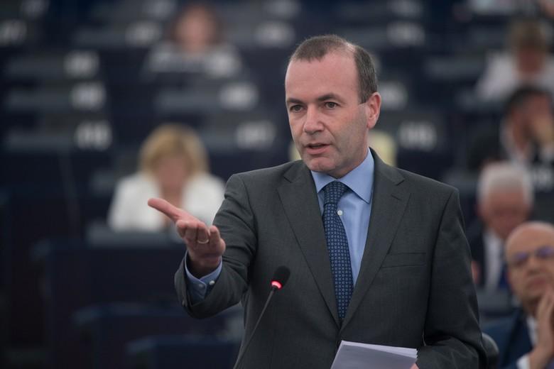 Manfred Weber au Parlement européen en juillet 2018